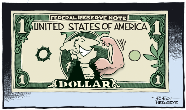 Cartoon of the Day: Strong Dollar! - Dollar cartoon 03.09.2015