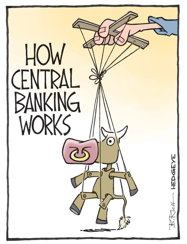 Cartoon of the Day: Bull On a String - Central planning cartoon 03.20.2015