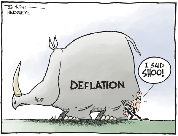 Cartoon of the Day: The Stubborn Rhino - Deflation cartoon 03.24.2015