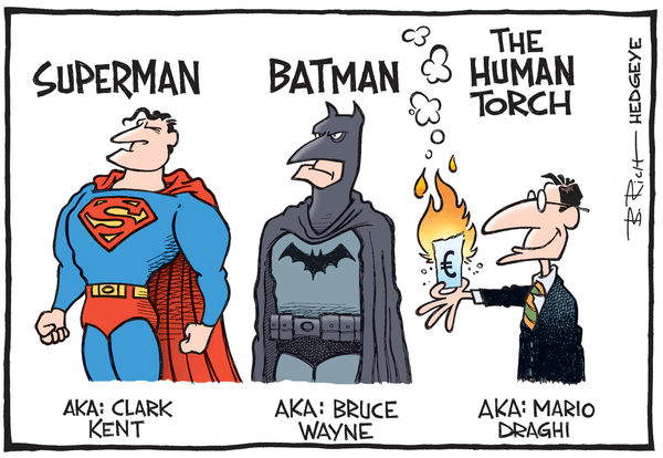 Cartoon of the Day: The Human Torch! - Draghi cartoon 03.31.2015