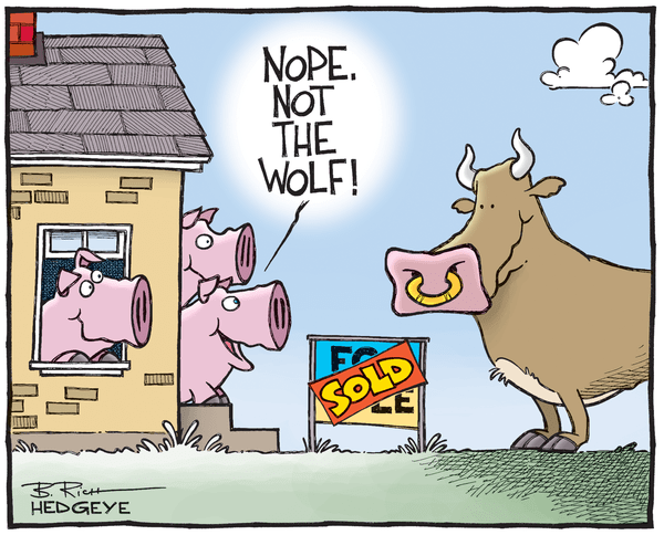 Cartoon of the Day: Three Little Pigs (And a Bull) - Housing cartoon 04.01.2015