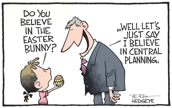 Cartoon of the Day: Easter Bunny Fed - central planning cartoon 04.01.2015