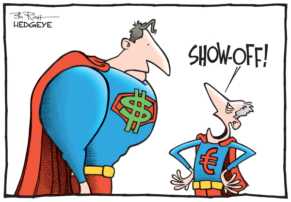 Cartoon of the Day: Super Dollar! - currency cartoon 04.13.2015