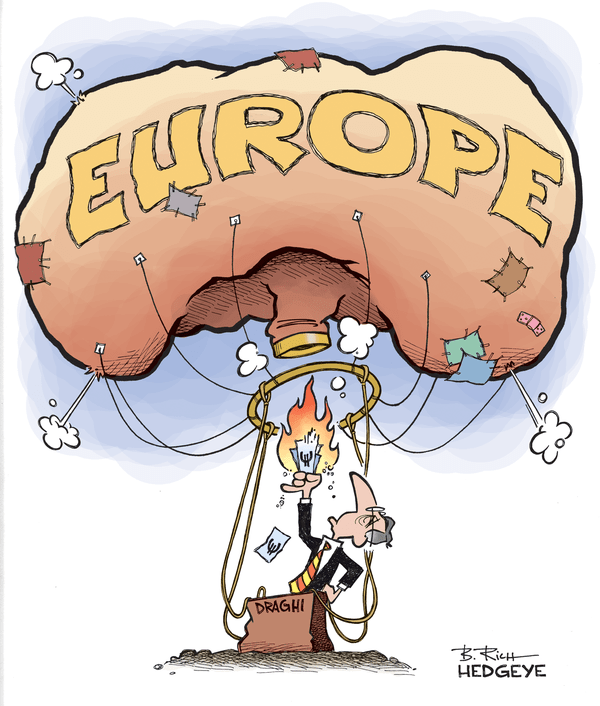 11 of the Best Cartoons Lampooning Mario Draghi and the ECB You'll Ever See - Draghi balloon cartoon 01.23.2015