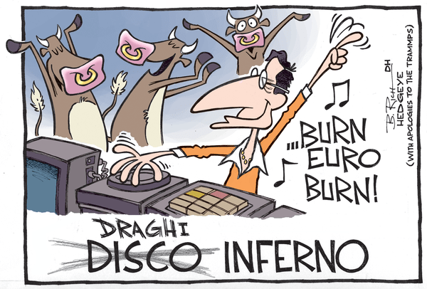 11 of the Best Cartoons Lampooning Mario Draghi and the ECB You'll Ever See - Draghi inferno cartoon 04.10.2015