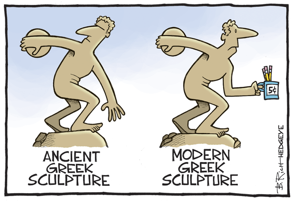 Cartoon of the Day: Modern Art - Greece cartoon 04.16.2015