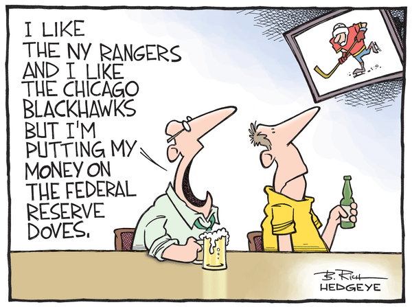 Cartoon of the Day: Rangers...Blackhawks...Doves? - Fed doves cartoon 04.21.2015