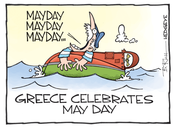 Cartoon of the Day: #MayDay! - Greece cartoon 05.01.2015