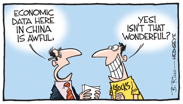 Cartoon of the Day: How's Your Data? - China stocks cartoon 05.04.2015