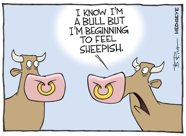 Investing Ideas Newsletter      - Sheepish bull cartoon 05.05.2015
