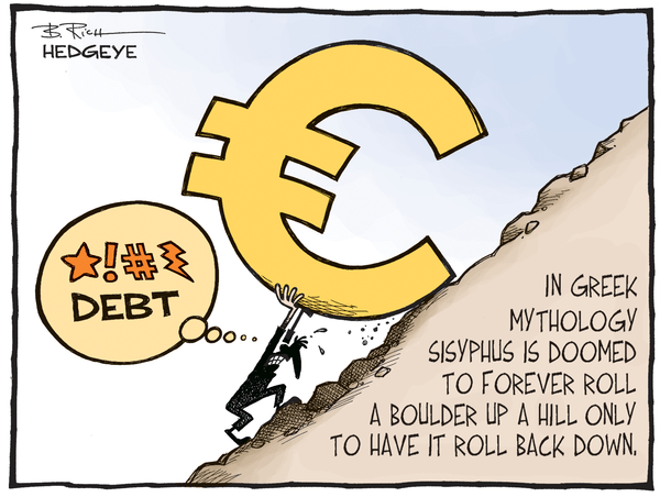 Cartoon of the Day: Sisyphus & Tsipras - Greek dept cartoon 06.16.2015