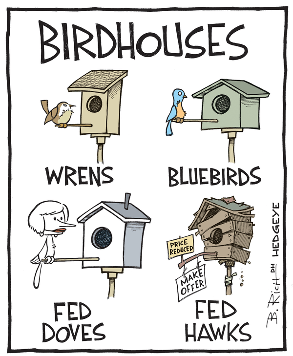 Our 9 Favorite #Fed Cartoons From (The Man, The Myth, The Legend) Hedgeye Cartoonist Bob Rich - Fed birdhouse cartoon 04.23.2015