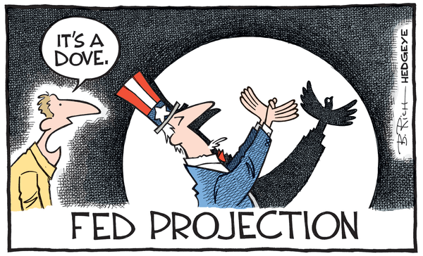 Cartoon of the Day: (Still) a Dove - Fed cartoon 06.17.2015 dove
