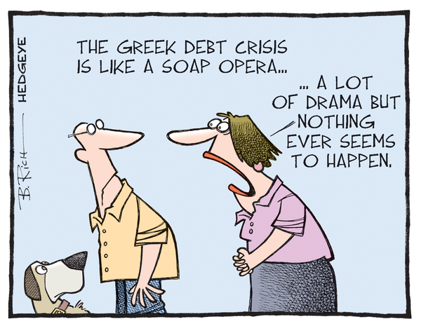 Cartoon of the Day: The Neverending Soap Opera - Greek debt cartoon 06.22.2015