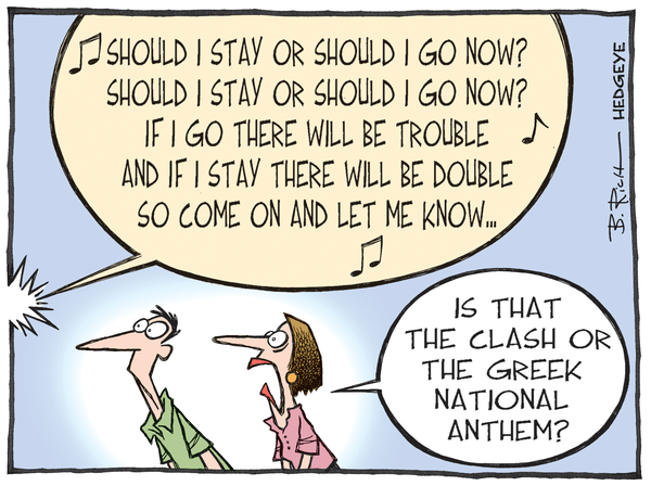 Cartoon of the Day: The Clash - Greek cartoon The Clash  07.08.2015
