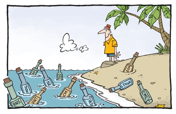MONDAY MORNING RISK MONITOR | GREECE GETS ANOTHER BAND-AID WHILE CHINA HEMORRHAGES - Financials Beach cartoon2015