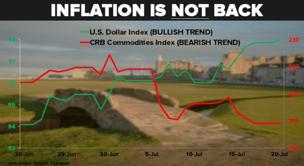 "CHART OF THE DAY: In Case You're Keeping Score On The ""Inflation is Back"" Trade... - ZZ 07.20.15 chart"