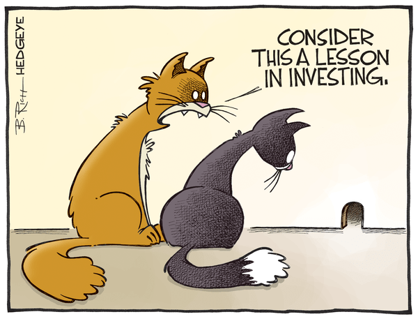 Cartoon of the Day: Cat + Mouse - Investing lesson cartoon