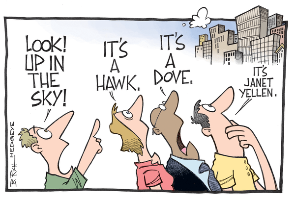 A Risk Manager's Response to Today's Fed Announcement - Yellen cartoon 09.17.2014NEW