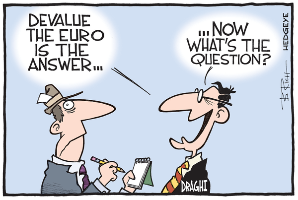 Stay Short the Euro - Euro cartoon 05.18.2015
