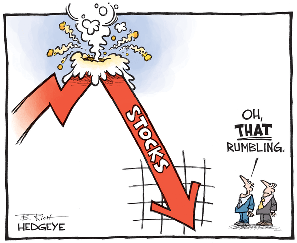 Cartoon of the Day: Rumbling... - Stocks drop cartoon 08.21.2015