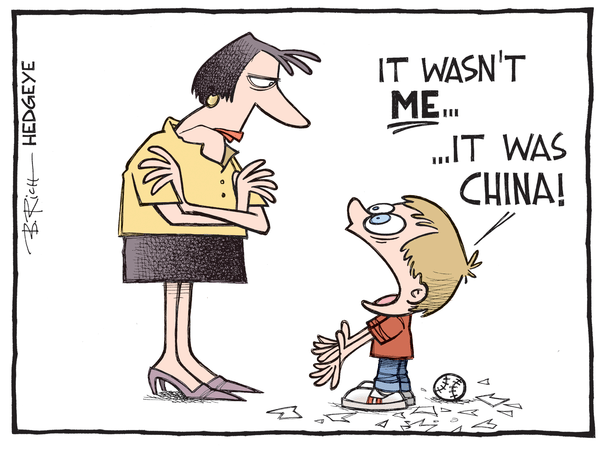 Cartoon of the Day: Blame Game - Blame China cartoon 08.31.2015