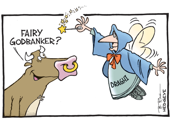 Cartoon of the Day: Dovish Draghi Fairy Dust! - Draghi cartoon 09.03.2015