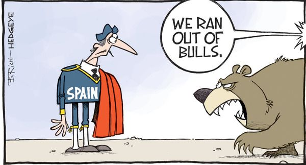 Cartoon of the Day: Disappearing Spanish Bulls - z xx