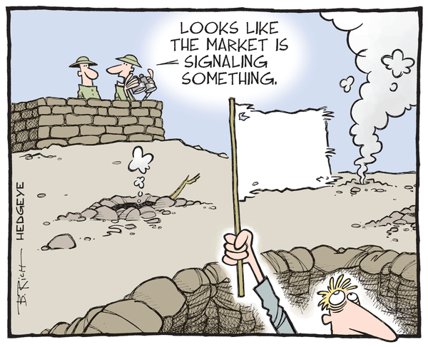 Cartoon of the Day: Surrender Flag? - Market signaling cartoon
