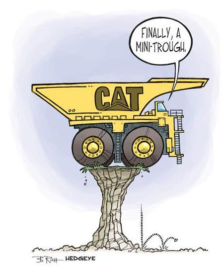 "[Caterpillar? Hedgeye's Van Sciver Called It] $CAT: Dear Barron's, ""Snap""? Yes. ""Back""? Not So Much. - z cat cartoon"