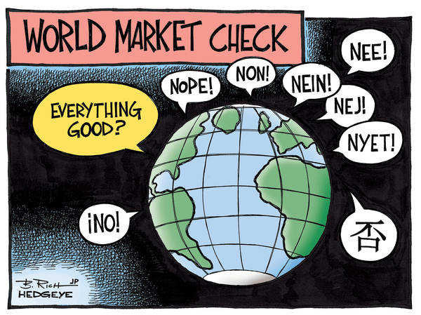 An Unmistakable Crashing Sound - Global economy cartoon 12.16.2014