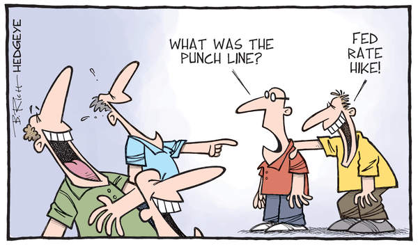 Cartoon of the Day: One Big Joke - rate hike cartoon 10.15.2015