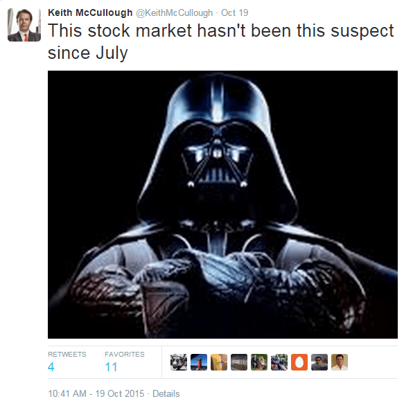 McCullough: Are We Entering An Earnings Recession? (And If So...) - 10 20 2015 vader