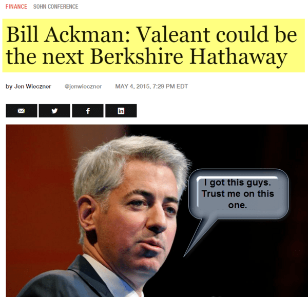BREAKING: Bill Ackman Wishes He Could Hop In Doc Brown's DeLorean And Go Back In Time - 10 21 2015 ackman