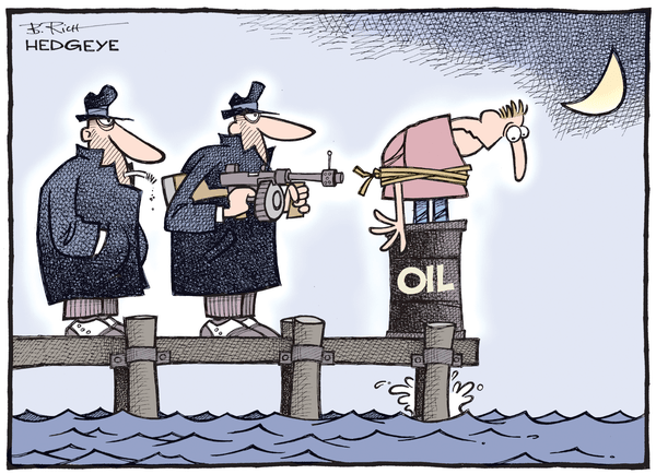 "The Consequences of Mario ""Whatever It Takes"" Draghi  - Oil cartoon 08.27.2015"