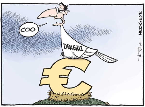 Cartoon of the Day: #Draghi Lays An Egg - Draghi cartoon 10.22.2015