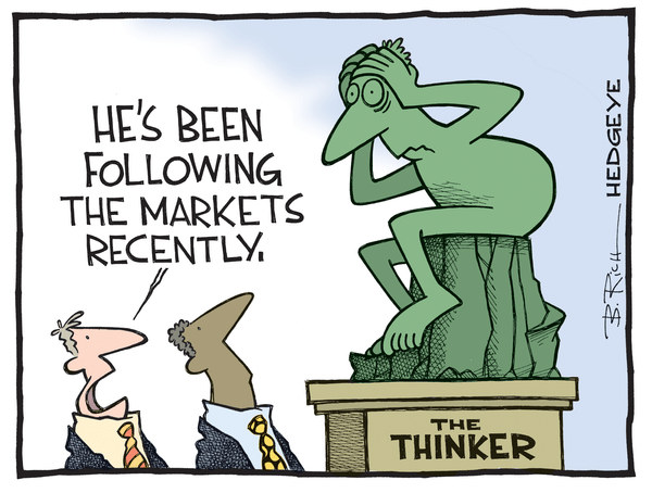 A Frantic Scramble - The Thinker.Markets cartoon 05.08.2015