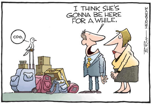 Wall Street Consensus Is Still Too High on Q3 GDP - Dove cartoon 0325.2015