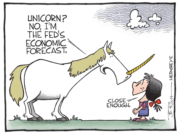 Don't Believe the Fed's 'Serial Over-Optimism'  - Fed forecast cartoon 03.02.2015