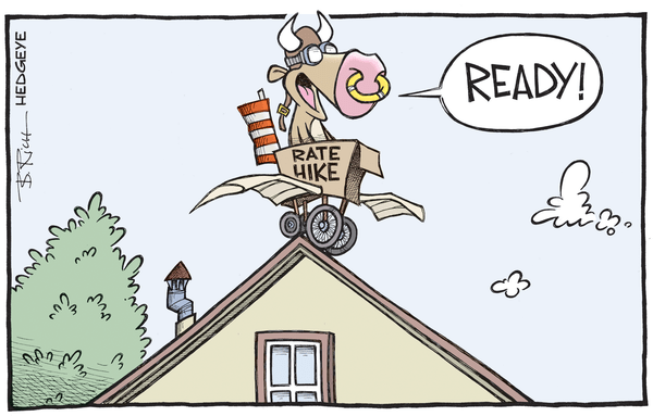 Cartoon of the Day: Ready For Liftoff? - Rate hike cartoon 11.06.2016