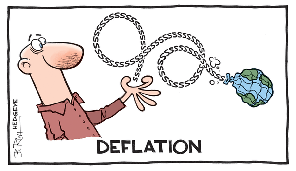 Green Shoots? 3 Economic Indicators Flashing Red - Deflation cartoon 12.29.2014