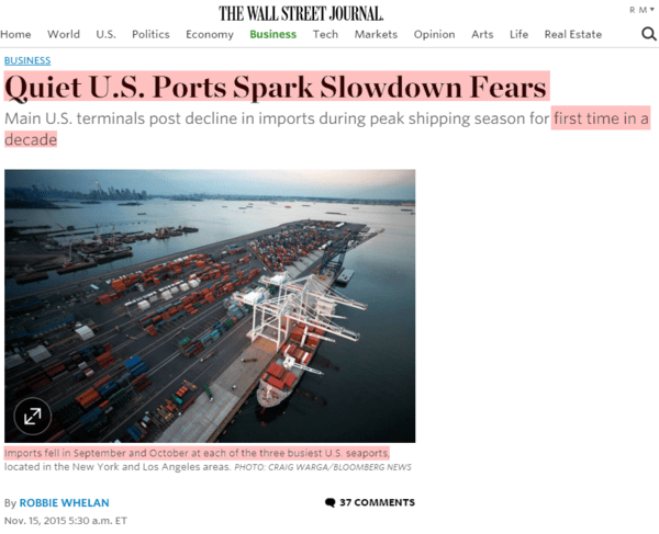 Evidence of #ConsumerSlowing Grows... Will the Fed Ignore and Hike Anyway? - seaports