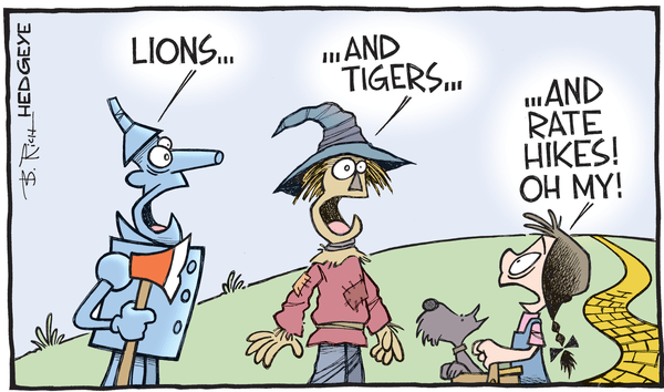 Cartoon of the Day: Lions And Tigers! - Rate hike cartoon 11.23.2015