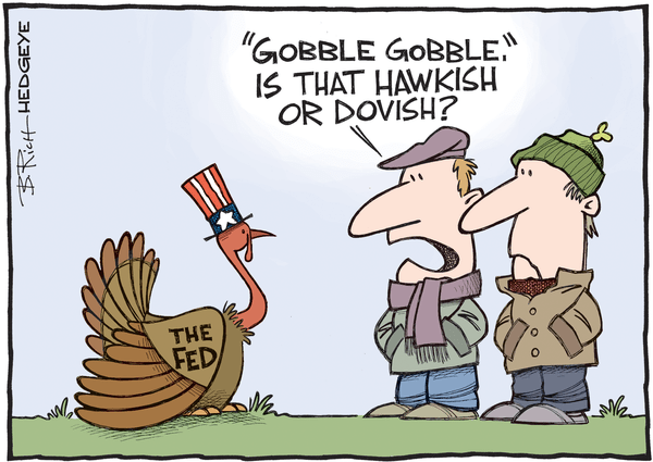 Cartoon of the Day: Gobble Gobble - FED cartoon 11.25.2015