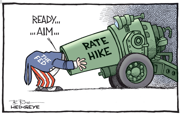 Dear Janet, Go Ahead. Hike. See What Happens - Rate hike cartoon 09.04.2015