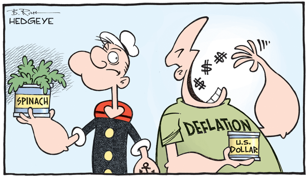 Cartoon of the Day: More Potent Than Popeye's Spinach?  - US dollar deflation cartoon 12.07.2015