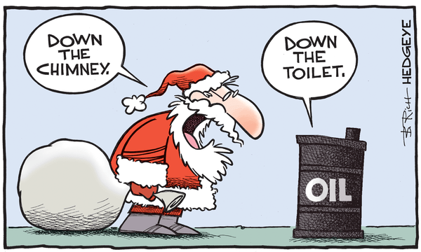 Cartoon of the Day: A Crude Reality  - oil cartoon 12.14.2015