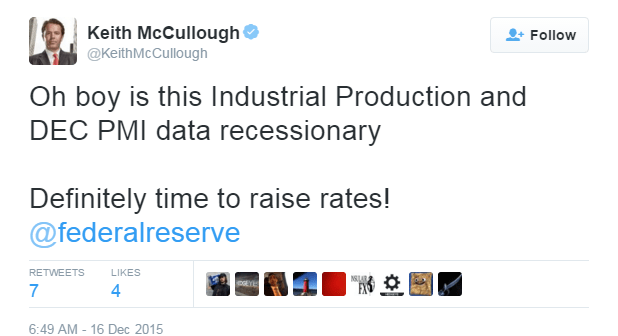 Another Round Of (Recessionary) Data? Hike Away Janet! - mccullough production