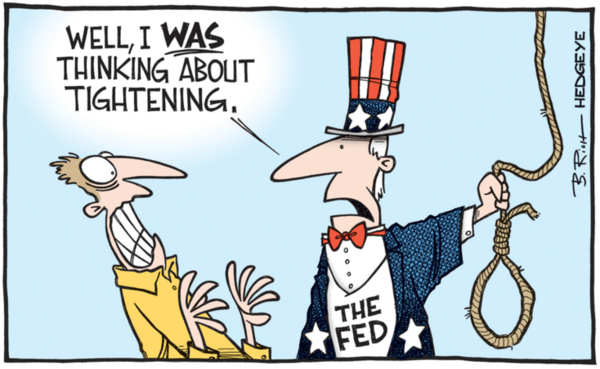 MUST-SEE: 8 Cartoons Highlighting the Rate Hike Absurdity - fed tightening noose