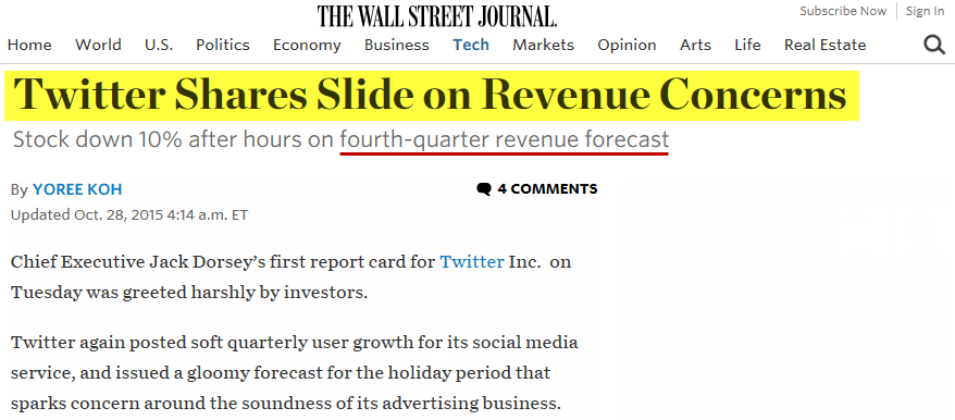 Twitter Flies South (Down 43% Since Our Short Call) - twitter info stock